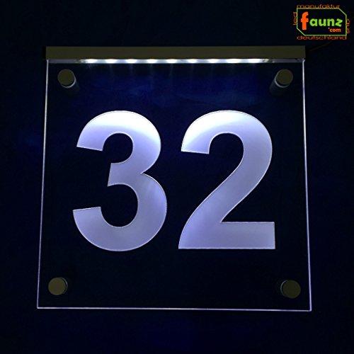 'LED extérieur Éclairage Panneau numéro de maison voie Paragraphe dans wählbarer Combinaison de couleurs de texte/\