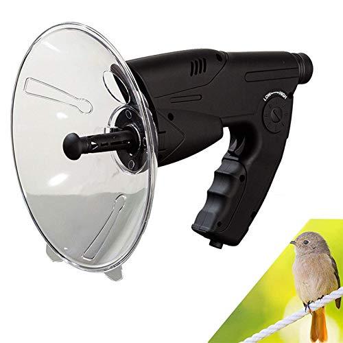 WQF Micrófono parabólico portátil, Amplificador de Sonido de Aumento de oído biónico monocular X8, Dispositivo Digital de observación y Escucha de la Naturaleza para Aves y Vida Silvestre Que es