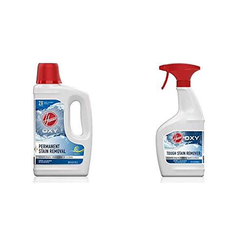 Hoover Oxy Deep Cleaning Carpet Shampoo and Oxy Spot Stain Remover Pretreat Spray, AH30950, AH30902