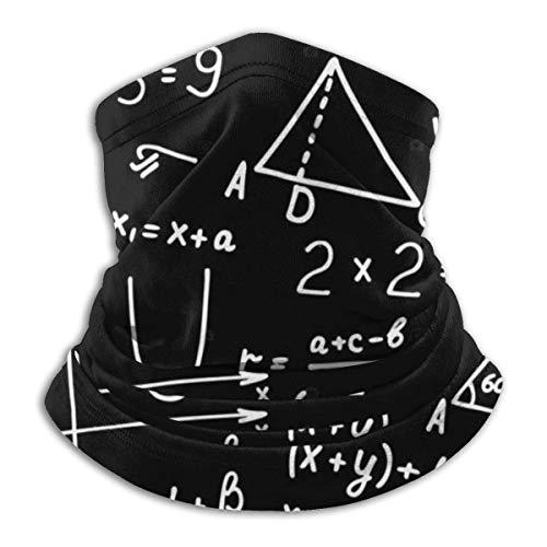 Lsjuee Algebra Geometry Abstracto Matemáticas Cuello Polaina Calentador a prueba de viento Cara Bufanda