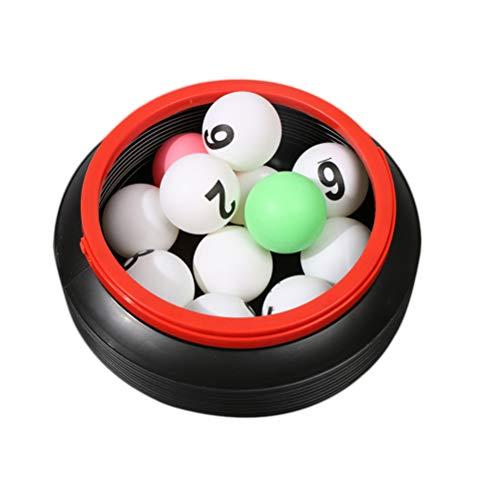 Amosfun 13pcs Número de Bolas Juego de números de Bolas de la rifa con Cubo de Almacenamiento (Bolas de 1 a 10 Bolas de Color Blancas 1 Cubo Plegable)