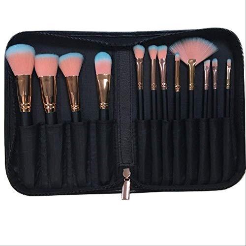 Maquillage Brosses 12 Pièces Pro Ensemble De Brosses De Maquillage Poudre Mix Ombre Eye Contour Concealer Blush Kit Brosses 12Pcs Avec Cas
