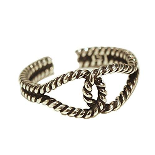Rétro Bague Fashion Silver Ring Tail Simple Accessoires Anneau d'ouverture