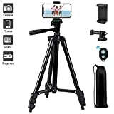 "Phone Tripod,LINKCOOL 42"" Aluminum Lightweight Portable Camera Tripod for Iphone/Samsung/Smartphone/Action Camera/DSLR Camera"