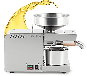CGOLDENWALL Oil Press Machine Automatic Oil Extractor with Dual Temperature Control Cold/Hot Oil Expeller for Commercial Home Use Stainless Steel for Nuts Walnut Linseed Almond Rapeseed Sesame