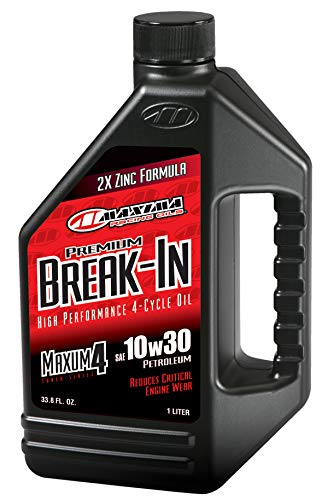 Maxima Racing Oils 30-10901-3PK Premium Break in 10w30 Motorcycle Engine Oil 1L Bottle, 3-Pack