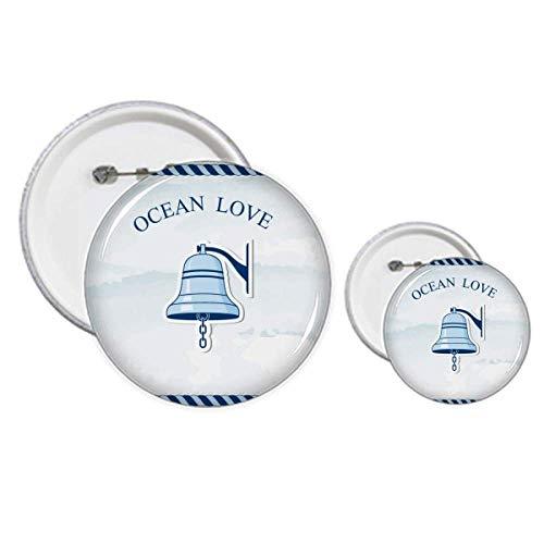 Bell Ocean Love Sea Sailing Pattern Pins Badge Button Design Kit Craft Set