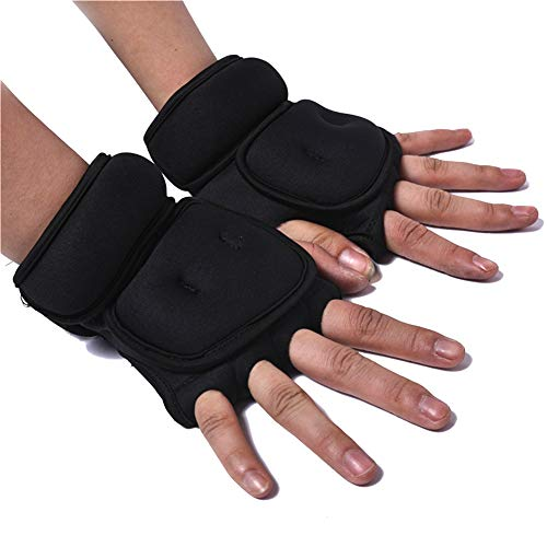 KOET Weighted Gloves 1kg(0.5kg Each), Sandbag Weight Bearing Training Gloves Fitness Gloves with Wrist Support for Gym Boxing, Cross Training