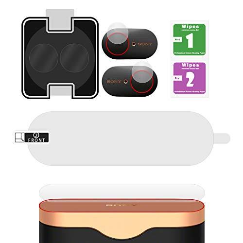 Geekria Pellicola protettiva per auricolari senza fili Sony WF-1000XM3, WF1000XM3, anti-polvere, anti-impronte, facile installazione, senza bolle, anti-graffio