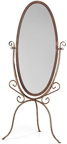 Floor Oval Shapled Mirror in Challenge the lowest price Cheval Finish Hand Limited time sale with Cobblestone