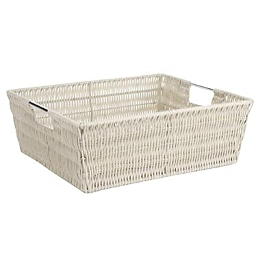 Whitmor Rattique Shelf Storage Tote Basket - Latte