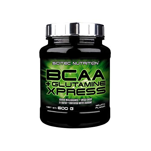 Scitec Nutrition BCAA + Glutamine Xpress, Fortified with Taurine, Sugar Free, 600 g, Mojito
