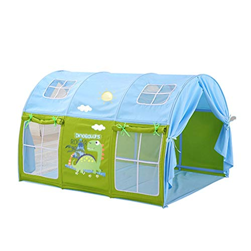 Tents Grow Play for Kids, Indoor Teepee Toys Cartoon Castle Bedside Bedding Dome Playhouse (Color : B, Size : 100 * 140 * 90-95CM)