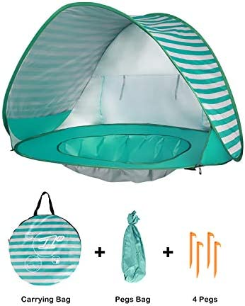 Kinbor Baby Beach Tent Pop Up Portable Shade Pool 50 UPF UV Protection Sun Shelter for Infant product image