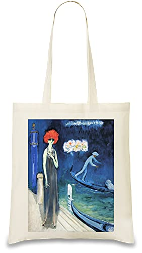 Kees Van Dongen - The Quai, Venice Painting Custom Printed Tote Bag| 100{15766ce8fa855a18988b291e3f73cf182679debd0d3e20cf22c975017aa96f89} Soft Cotton| Natural Color & Eco-Friendly| Unique, Re-Usable & Stylish Handbag For Every Day Use| Custom Shoulder Bags By Tote