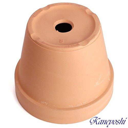 鉢三河焼KANEYOSHI【日本製/安心の国産品質】陶器植木鉢素焼き鉢8号