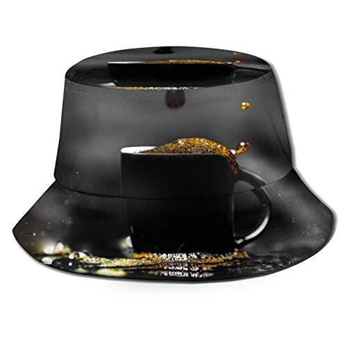 Taza de café Sombrero de Cubo de Espuma Unisex Gorra de Verano al Aire Libre Sombreros de Sol Plegables para Senderismo Deportes de Playa