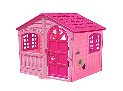 Palplay Kids Outdoor Playhouse - Colorful Pink & Purple Fun House