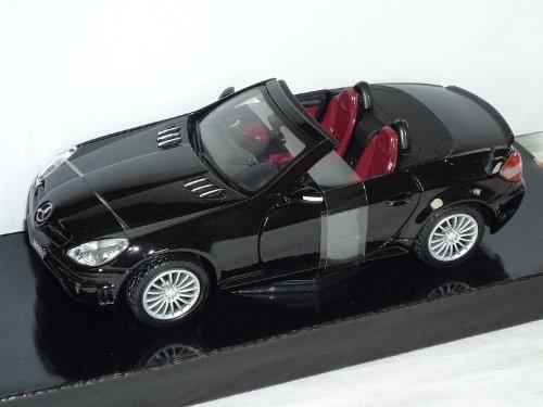 Motormax Mercedes-Benz SLK R171 2004-2011 55 AMG Schwarz Cabrio 1/24 Modellauto Modell Auto