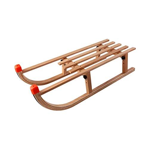 Wooden Sled Flexible Flyer Premium Sled Can Hold 220 Pounds Easy to Clean Made of Environmentally Friendly Laminated Beech Wood Suitable for Snow