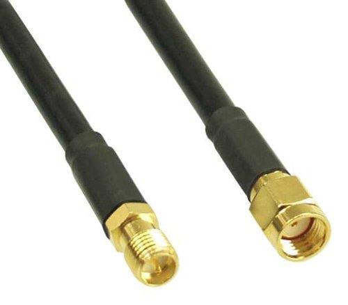 Inline WLAN Kabel, R-SMA-Stecker auf R-SMA-Kupplung, 10m