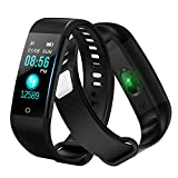 Pulsera Actividad Inteligente Pulsera de Actividad con Pulsómetro SpO2 Sueño Podómetro Monitor de Actividad Deportiva Ritmo Impermeable IPX67 Fitness Tracker Smartwatch para Mujer Hombre