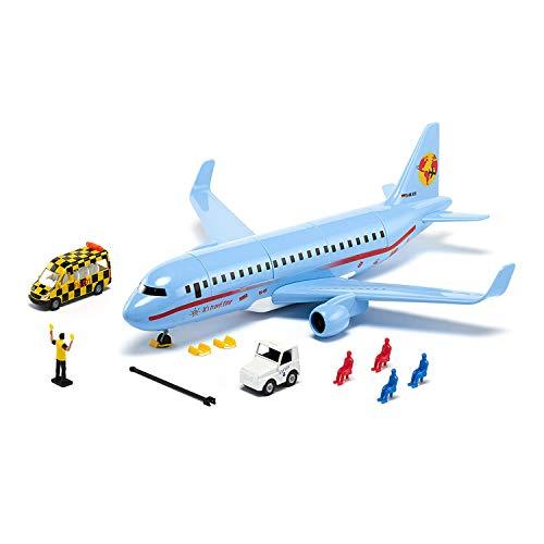 siku 5402, Verkehrsflugzeug mit Zubehör, Kunststoff, Hellblau, Viele Funktionen, Kombinierbar mit SIKU Modellen im gleichen Maßstab