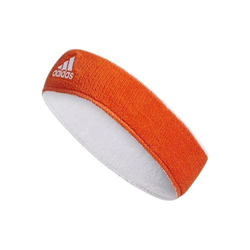 adidas intervalo Reversible Diadema, Unisex, Naranja y Blanco