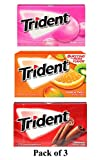 jai jinendra Trident Gum 14 Sticks Chewing Gum Tropical Twist, Bubble Gum, Cinnamon Flavour Chewing Gum Pack of 3