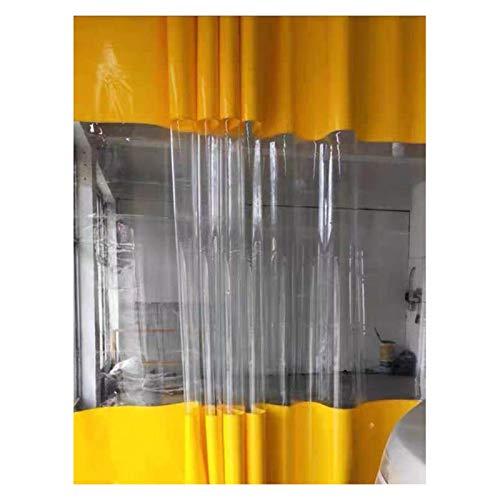 YJFENG Cortina De Puerta Impermeable De Repuesto, Panel Lateral De Tienda De PVC De 0,5 Mm, Lona De Aislamiento Térmico A Prueba De Viento, para Pérgola, Porche, Balcón Exterior