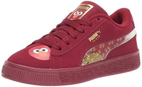 PUMA X Sesame Street Suede, Scarpe da Ginnastica. Unisex-Bambini, Rhubarb Bianco, 35 EU