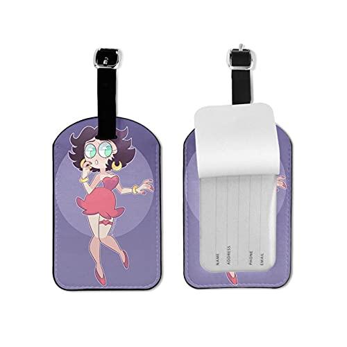 Bet-Ty Bo-Op Etiquetas de equipaje seguras para maleta de viaje, etiquetas de equipaje