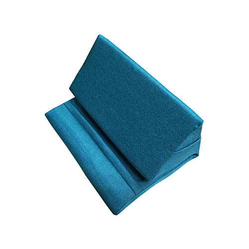 SYSI Multi-Angle Tablet Soft Pillow, Phone Pillow Lap Stand for iPads, Tablets, eReaders, Smartphones, Books, Magazines (Light Blue)