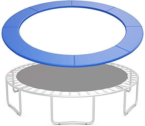 Trampoline Reemplazo Almohadilla Protectora, Ø183/244/306/366/427/488 cm, Cubierta de Protección, Cubierta de Resorte para Cama Elástica, Resistente a los Rayos UV, Azul,16FT