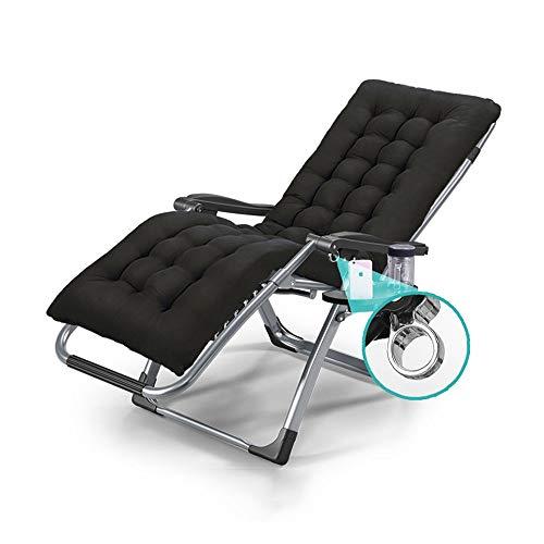 SunLoungers Sitio de salón con taza y bandeja multiusos Plegable Silla plegable de algodón extraíble Almuerzo de algodón Almuerzo Oficina de almuerzo Silla de salón Silla de silla de silla de sillón (