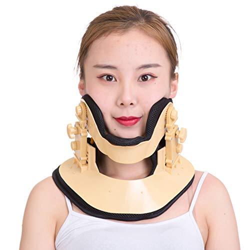 WANGXNCase Collarín De Tracción Cervical, Soporte para El Cuello, Cuello Extensible Ajustable, Dispositivo De Tracción para El Cuidado En El Hogar para Aliviar El Dolor Y La Compresión