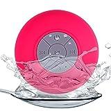 LZW Wireless Bluetooth Lautsprecher Im Freien Wasserdichten Großen Saugnapf Bluetooth-Stereo-Mini Tragbaren Wiederaufladbare Geeignet Für Bad, Schwimmen, Etc,Rot