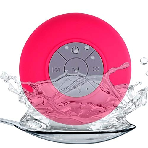 LZW Wireless Wiederaufladbare Bluetooth Lautsprecher Großer Saugnapf Bluetooth-Stereo-Mini-Bewegliche Im Freien Wasserdicht Geeignet Für Bad, Schwimmen, Etc,Rot