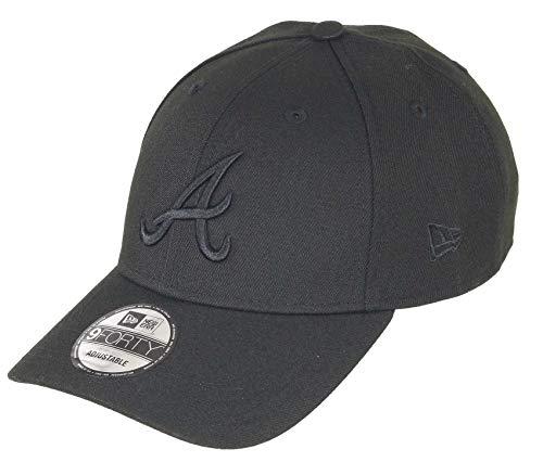 New Era Atlanta Braves 9forty Adjustable Snapback Cap MLB Essential Bob Black - One-Size