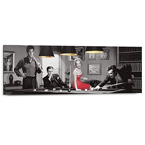 Schilderij Deco Panel Legal Action Chris Consani - Vintage - Marilyn Monroe - Elvis Presley - 90 x 30 cm