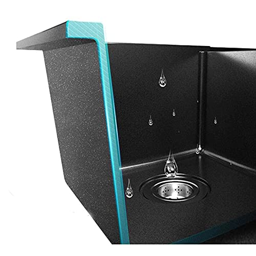 YQG El Fregadero de Piedra de Agua Tiene una Gran Capacidad de Resistencia a la corrosión, Resistencia al Desgaste y no es fácil de manchar.El Fregadero de Granito es Adecuado para Cocina, baño