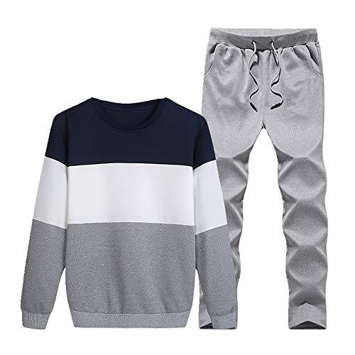 Otoño Deportes Traje Guapo de los Hombres de la Juventud Suéter Traje de los Hombres de Manga Larga Pantalones