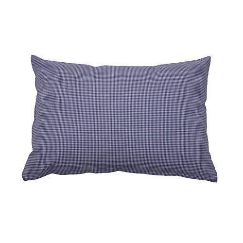 Hans-Textil-Shop Vichy Checked Cushion Cover 2 x 2 mm - Checked Sofa Cushion, Decorative Cushion, Seat Cushion, Decorative Cushion (30 cm x 30 cm, Blue)