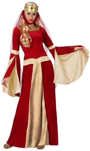 Atosa-15435 Disfraz Dama Medieval, color rojo, XS-s (15435)