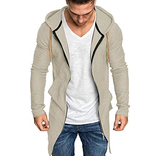 Hommes Pullover Pull à Capuche Hoodie Sweat Veste Basic Manche Longue Oversize Shirt Sweater Homme Casual Sweat à Capuche T-Shirts Tops Pull Cardigan Fermeture éclair