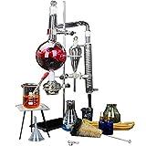 JIXIN Equipo De Destilación De Aceite Esencial De Laboratorio De 500 Ml con Condensador