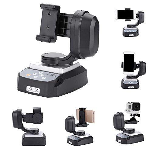 EBTOOLS Motorized Camera Pan Tilt Head, with Remote Control and 355° Pan Rotation, Motorized Remote Control Pan Tilt Tripod Mount Adapter, for Action Cameras Phone