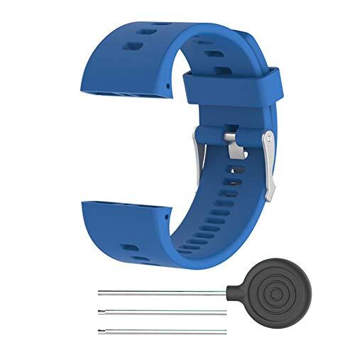 Faderr Ersatz-Armband für Polar V800, Smart Watch, Silikon, blau, Free Size