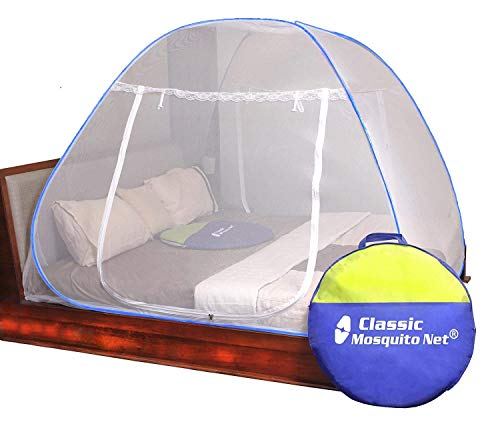Classic Mosquito Net Foldable Flexible for Queen Size - Blue