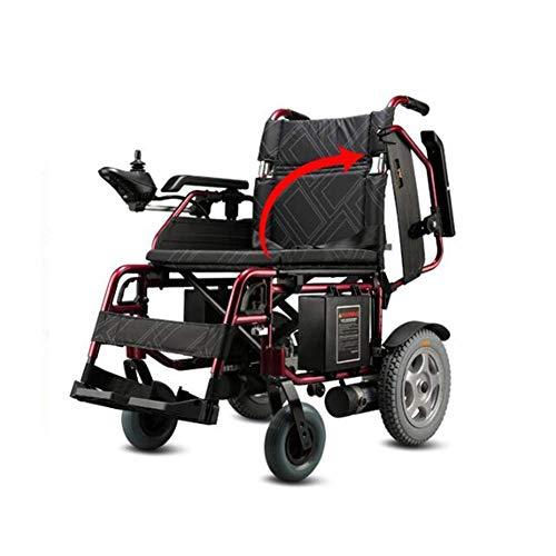 MZLJL Silla de ruedas eléctrica, inteligente, eléctrica, plegable, ligera, duradera, sillas de ruedas eléctricas, para discapacitados, para exteriores, silla de ruedas, scooter eléctrico